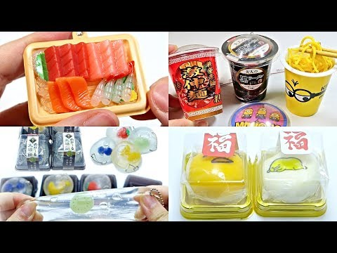 Compilation Food Sushi Mochi Fruit Cup Noodle Stretchy Squishy Squeeze