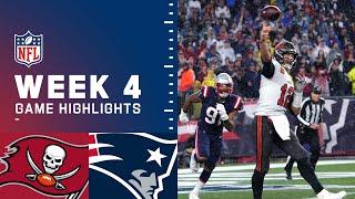 Buccaneers vs. Patriots Week 4 Highlights | NFL 2021