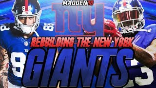 Madden 18 Connected Franchise | Rebuilding The New York Giants | Bouncing Back From an Awful Season