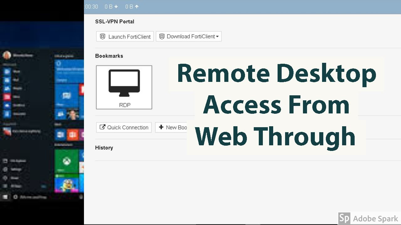 Rdp Access Through Ssl Vpn On Fortigate Youtube
