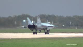 МиГ-31 Запуск и взлет. Полностью для ценителей в [ FULL HD - 1080 ]. 02.09.2013