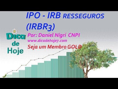 DICA DE HOJE - IPO IRB Resseguros - VIDEO EXTRA