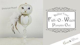 Dollar Tree DIY Pumpkin Owl / Fall / Halloween DIY / Part 2 of 10