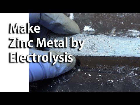 Make Zinc Metal by Electrolysis (Fixed)