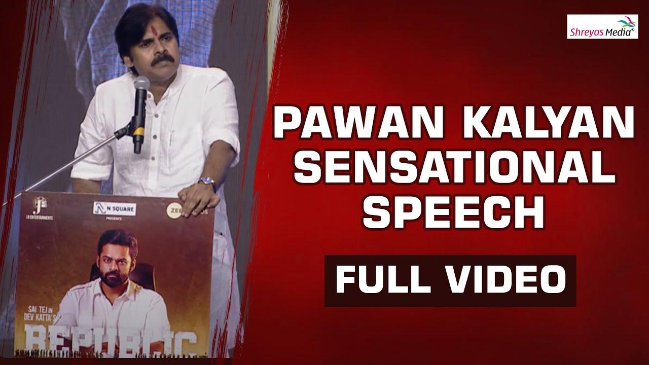 Powerstar Pawan Kalyan Powerful Speech @ Republic Pre Release Event |  Shreyas Media - YouTube