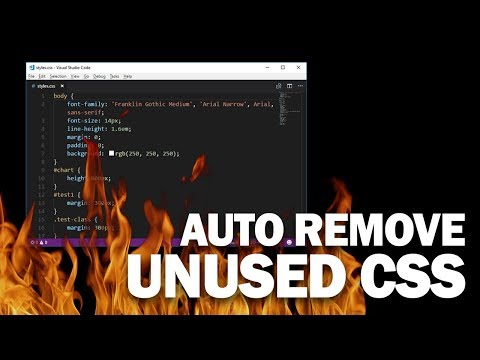 How to Scan and Remove Unused CSS Properties | PurgeCSS Tutorial