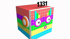 Numberblocks 11 x 11 x11 The Big One Square with Cool Design