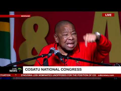 Blade Nzimande - Cosatu's 13th National Congress