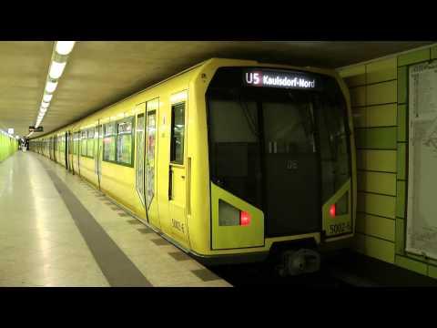 U-Bahn Berlin H-Zug in Lichtenberg U5 [HD]