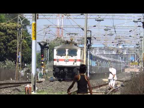 120KMPH Train Chasing 110KMPH Train - MYSORE Superfast Running For Life !!