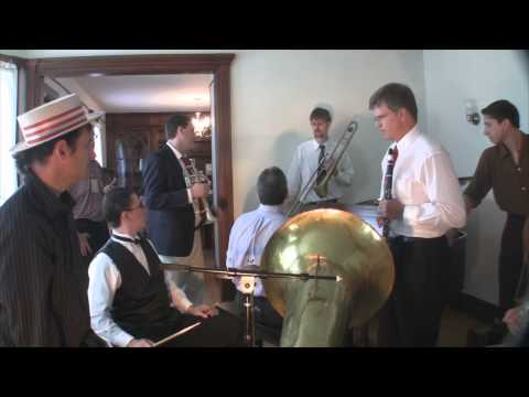 Wax cylinder recording session at Bix Beiderbecke's childhood home in Davenport