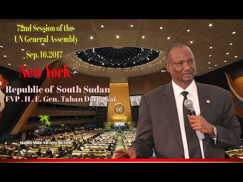 First Vice  President of the Republic of South Sudan- H.E. Gen. Taban Deng Gai arrival.