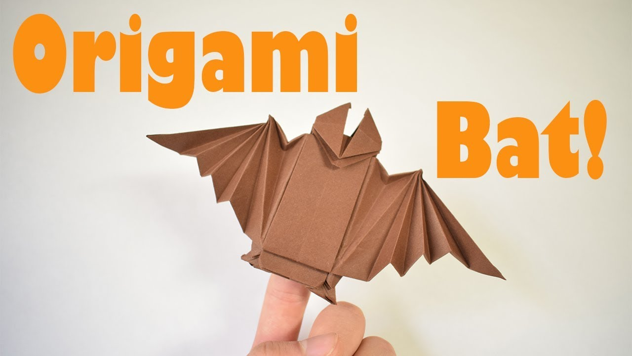 How To Fold An Origami Bat Finger Puppet Halloween Decoration