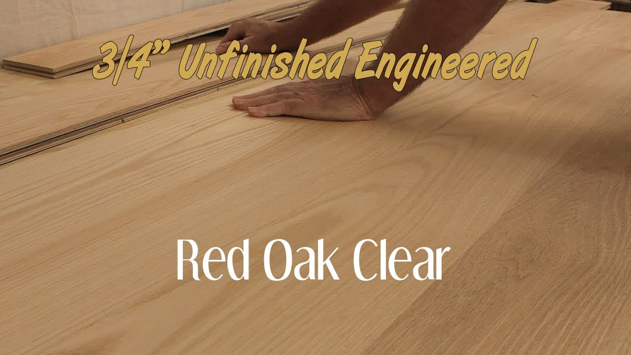 unfinished engineered red oak clear hardwood flooring 34 inch