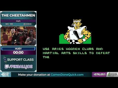 The Cheetahmen by huey in 4:27 - AGDQ 2017 - Part 105