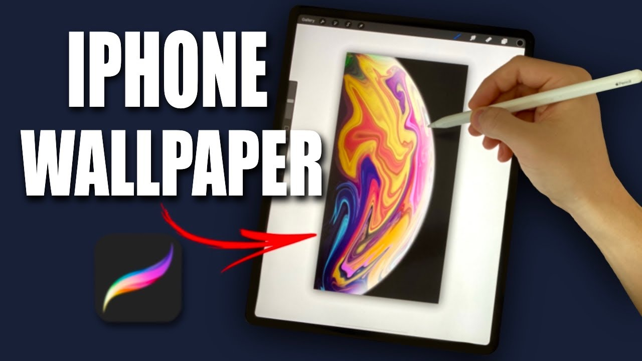 """How To Make Apple """"Planet Wallpaper"""" in Procreate (#shorts)"""