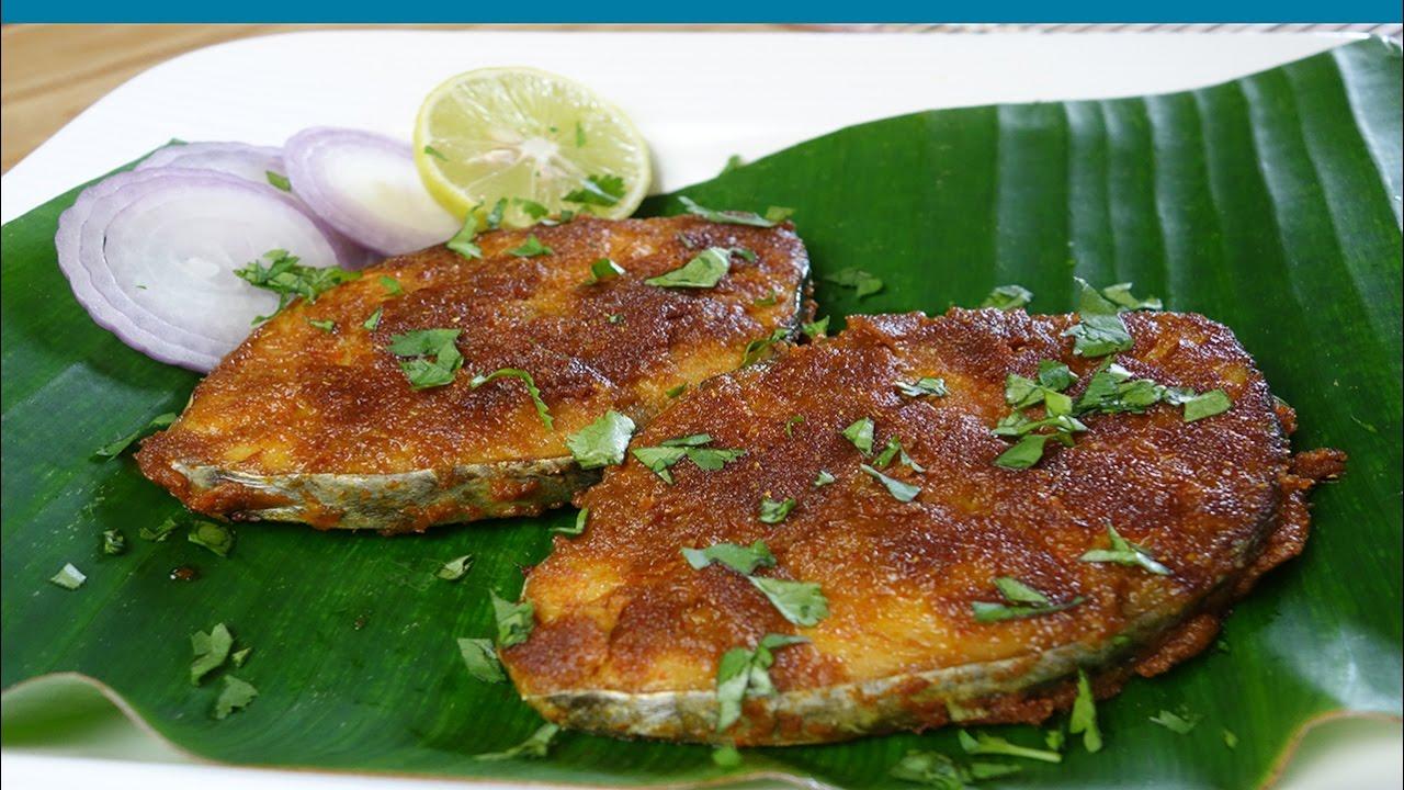 Fish fry seer fish king fish fry homemade recipe youtube for King fish recipe