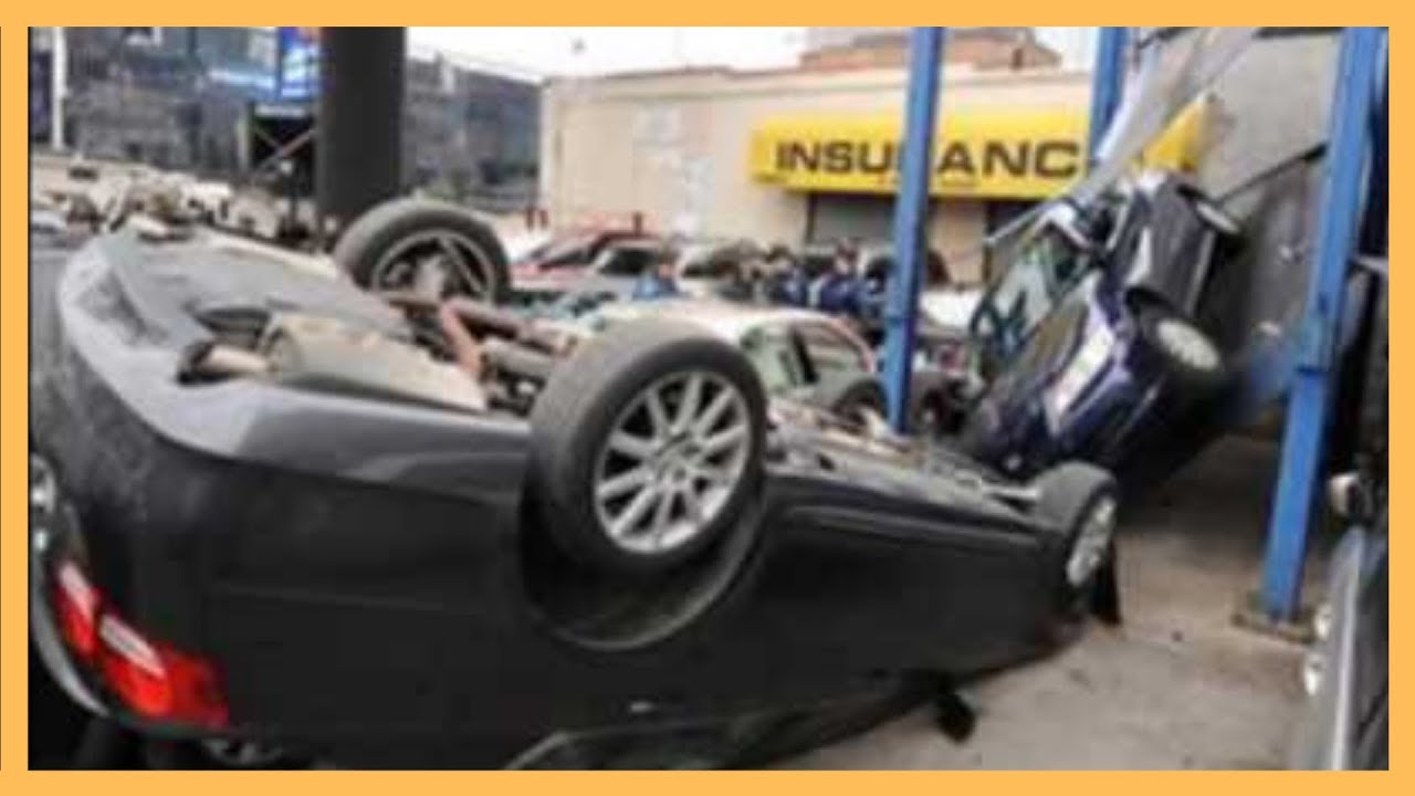 Car Lift Fails Extrem Accident Gone Wrong