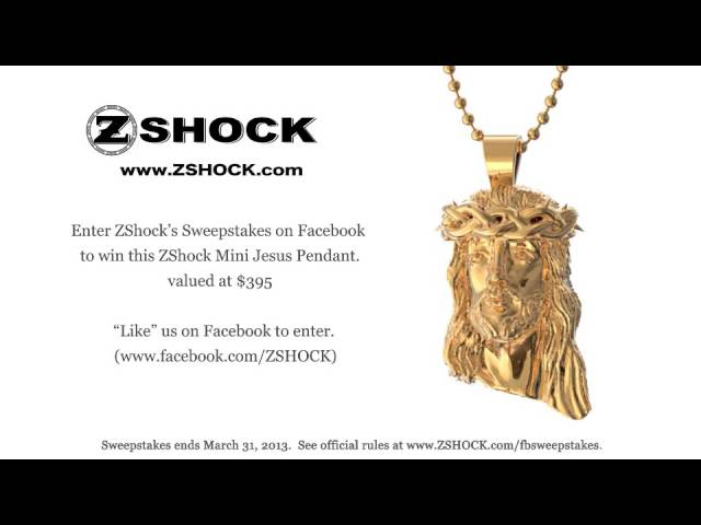 Mini Jesus Piece Pendant Sweepstakes Giveaway By ZShock Jewelry Company 3-2013