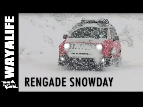 RENEGADE SNOW DAY : Snow Wheeling a Jeep Renegade Trailhawk