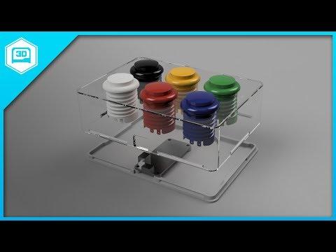 Fusion 360 Tutorial –Arcade Button Box Part 2
