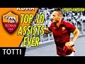 Francesco Totti ✪ TOP 10 Impossible Assists & Passes In His History | HD
