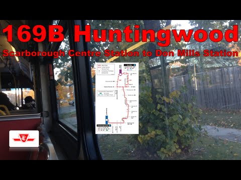 169B Huntingwood - TTC 1996 Orion V ex-CNG 9411 (Scarborough Centre Station to Don Mills Station)