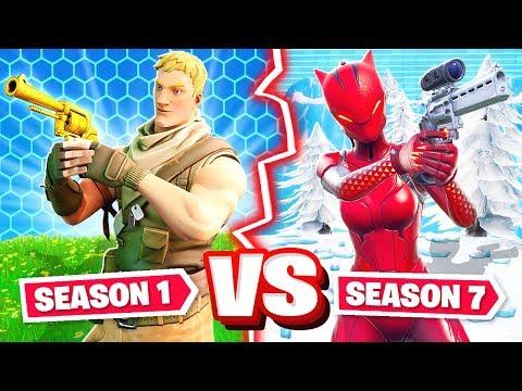 SEASON 1 vs SEASON 7 CHALLENGE *NEW* Game Mode in Fortnite Battle Royale thumbnail
