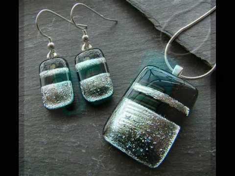 Handmade Dichroic Fused Glass Jewellery By Chloe S Designs