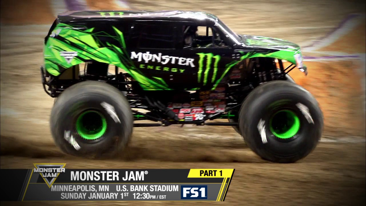 Monster Jam In Minneapolis Racing Championship On Fs1 Jan 1 2017 Youtube