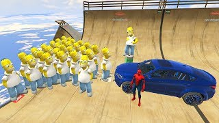 GTA 5 Crazy Ragdolls Spiderman Vs Homer Simpson (GTA 5 Euphoria Physics, Fails, Funny Moments)BMW X6