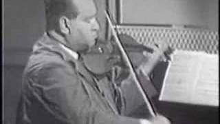 David Oistrakh plays Ravel Tzigane