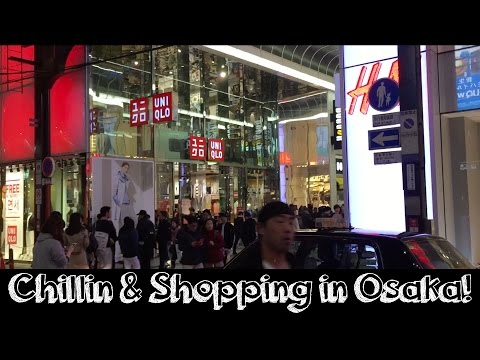 Chillin and Shopping in Osaka! H&M, Supreme, Adidas, etc.