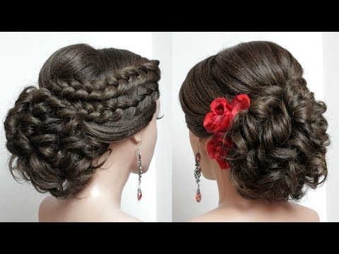 Wedding Updo With French Braids. Prom Hairstyles