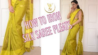 How to iron your saree pleats   With Love Sindhu