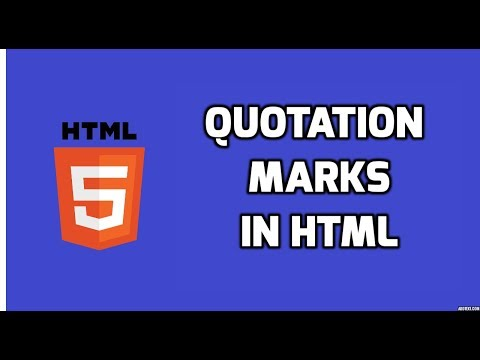 Quotation Marks In HTML | HTML5 Tutorial