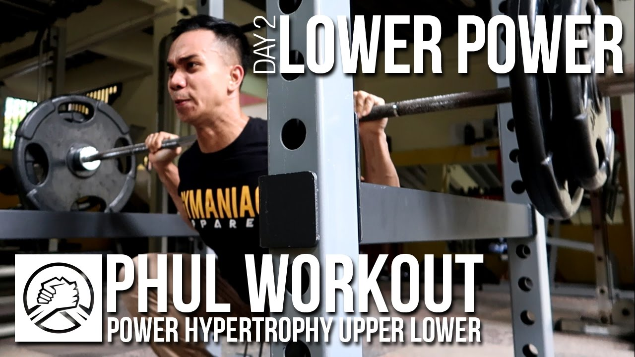 Phul workout lower power pola latihan fitness paling
