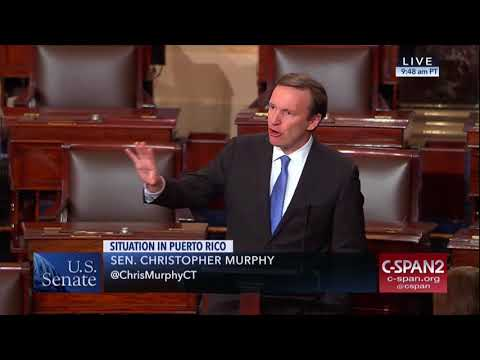 Senator Murphy Speaks on the Senate Floor About Puerto Rico