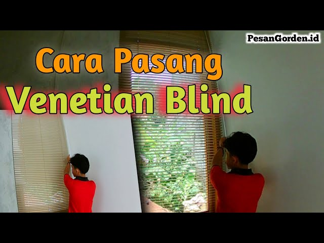 Cara Pasang Venetian Blind  Gorden Tirai Curtain 082310989451- How To install #tutorial