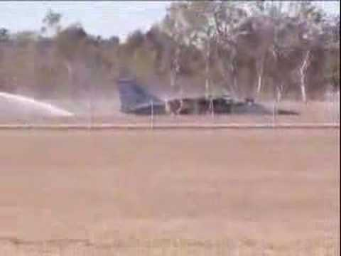 F-111 crash landing - YouTube