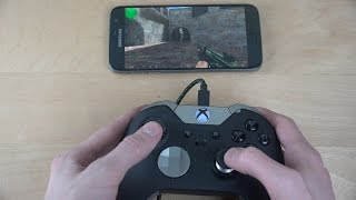 Counter Strike de_dust2 Samsung Galaxy S7 NVIDIA Moonlight Game Streaming Xbox One Controller!