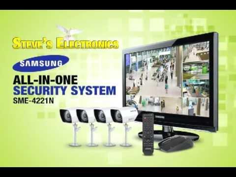 samsung all in one security camera system sme4221n tv ad. Black Bedroom Furniture Sets. Home Design Ideas