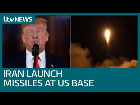 Iran launch missiles at US airbases | ITV News