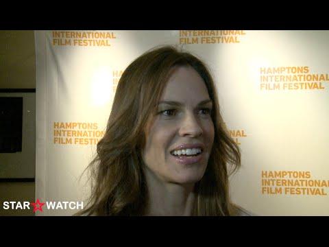 Hilary Swank red carpet interview at 2014 Hamptons International Film Festival