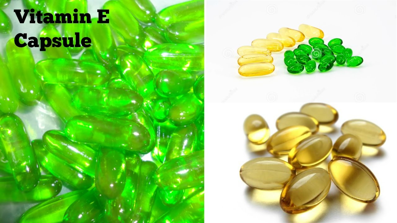 Vitamin E capsules. Its effect on the body 92