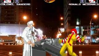 MUGEN無限格鬥 Colonel Sanders VS McDonald【Watch Mode】桑德斯VS麥當勞【觀戰模式】