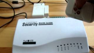 GSM ALARM SYSTEM   Step 1.  HOW TO SET UP DEFAULT SETTINGS.