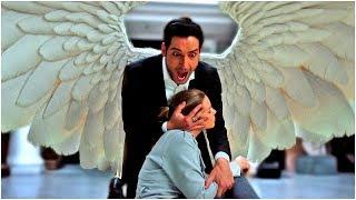 Люцифер убивает Каина. Хлоя видит Дьявольское лицо