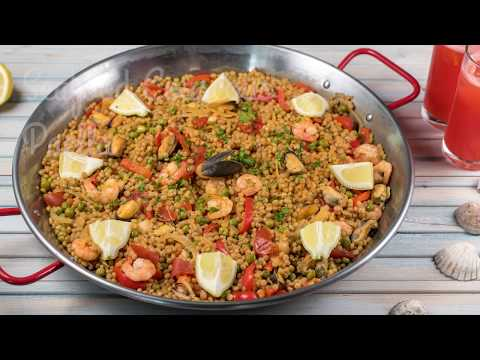 Seafood couscous paella | WCRF UK Healthy Recipes
