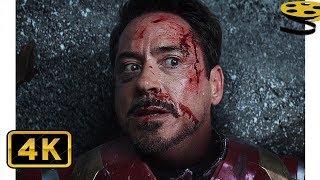 Тони Старк против Баки и Капитана Америки (Часть 2) | Первый мститель: Противостояние | 4K ULTRA HD